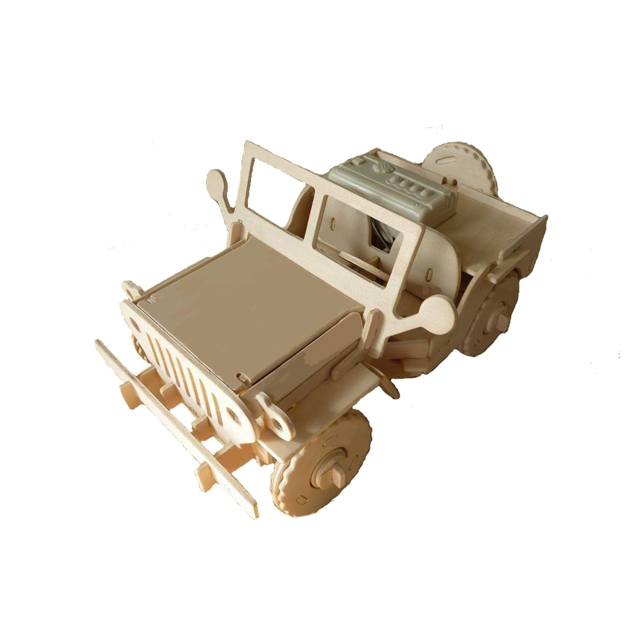 Robotic 3D Wooden Puzzle-Jeep Toy-MercadoGames.com
