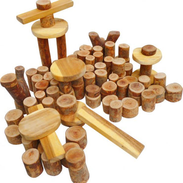 Tree Blocks 106 pcs -  Wooden Toy
