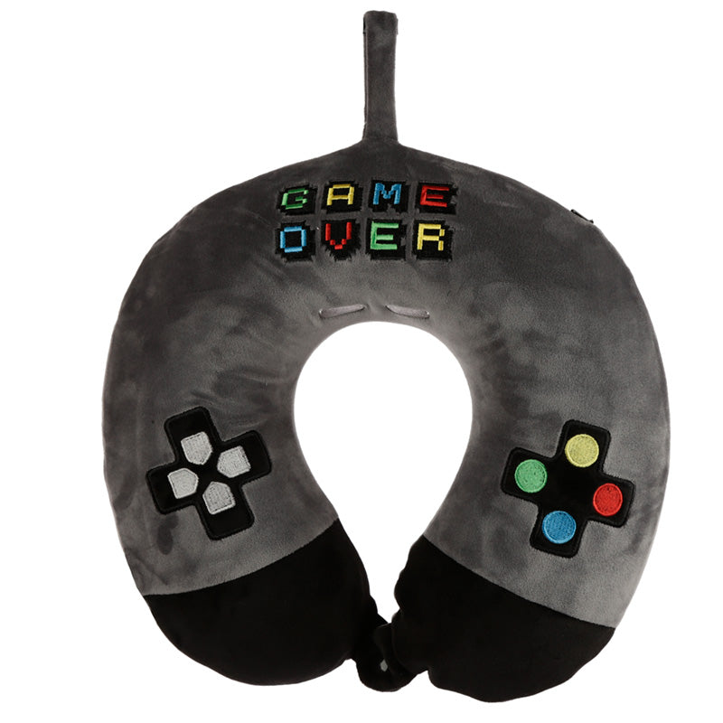 Retro Gaming Game Over Relaxeazzz Plush Memory Foam Travel Pillow