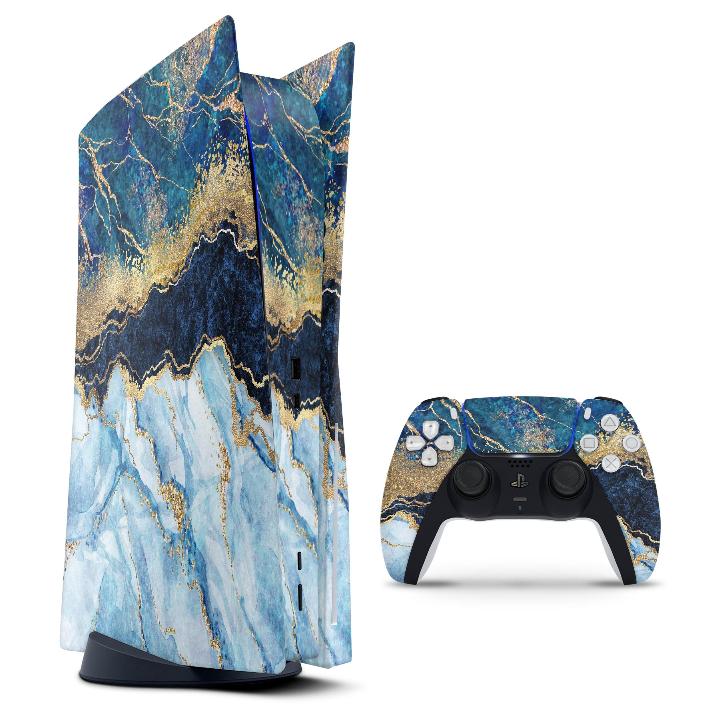Foiled Marble Agate - Vinyl decal Bundle for PlayStation 5