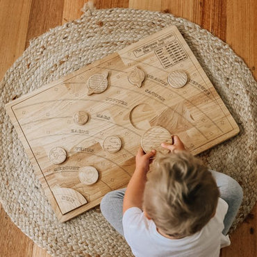 Solar system learning kit -  Wooden Toy