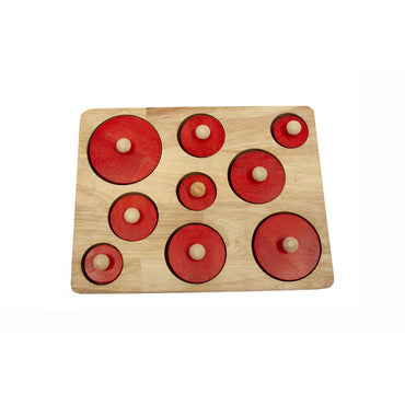 QToys Montessori Size Puzzle Wooden Toy-MercadoGames.com