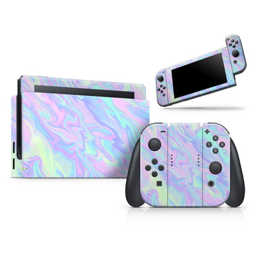 Iridescent Dahlia v1 - Vinyl decal Wrap Kit for Nintendo