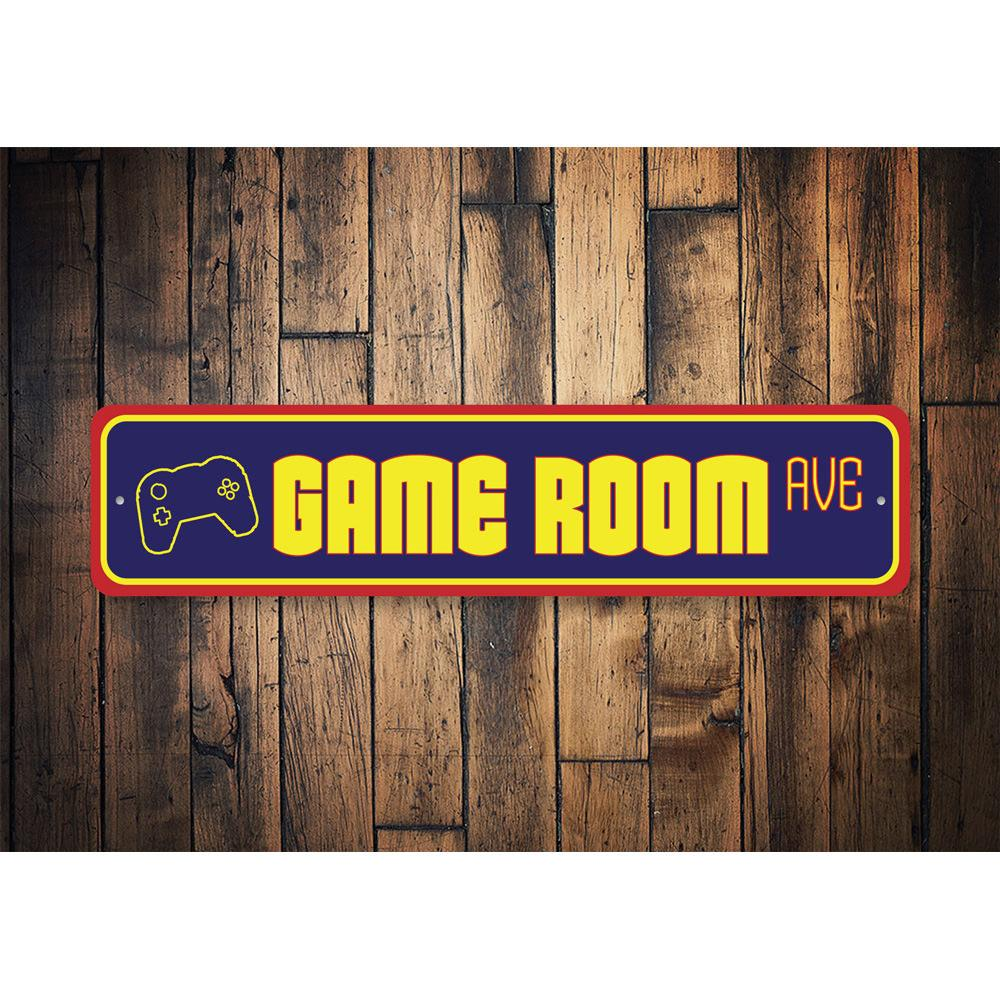 Game Room Street Sign