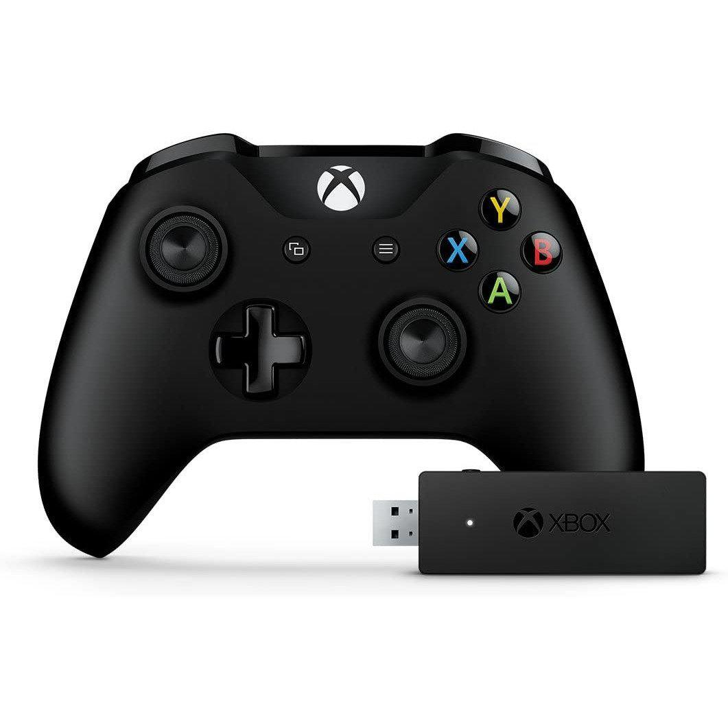 Microsoft Xbox One S Controller + Wireless Adapter for Windows 10-MercadoGames.com