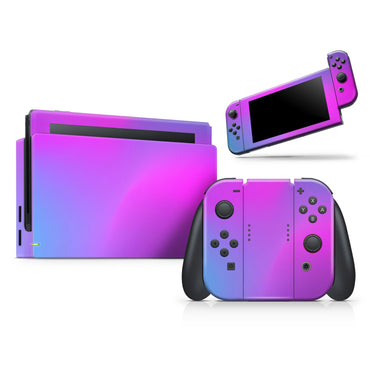 Neon Holographic V1 - Full Vinyl decal Bundle for Nintendo
