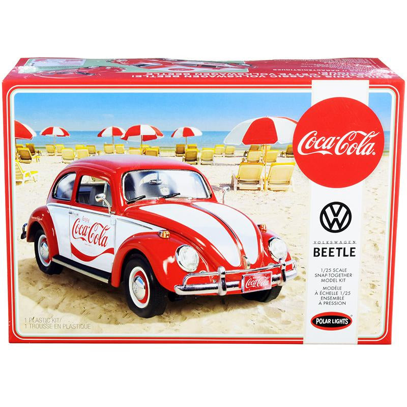 "Skill 3 Snap Model Kit Volkswagen Beetle \Coca-Cola"" 1/25 Scale Model"