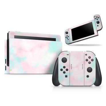 Pretty Pastel Clouds V7 - Full Vinyl decal Wrap Kit for Nintendo