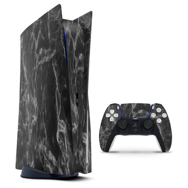 Smooth Black Marble - Full Vinyl decal Bundle for PlayStation