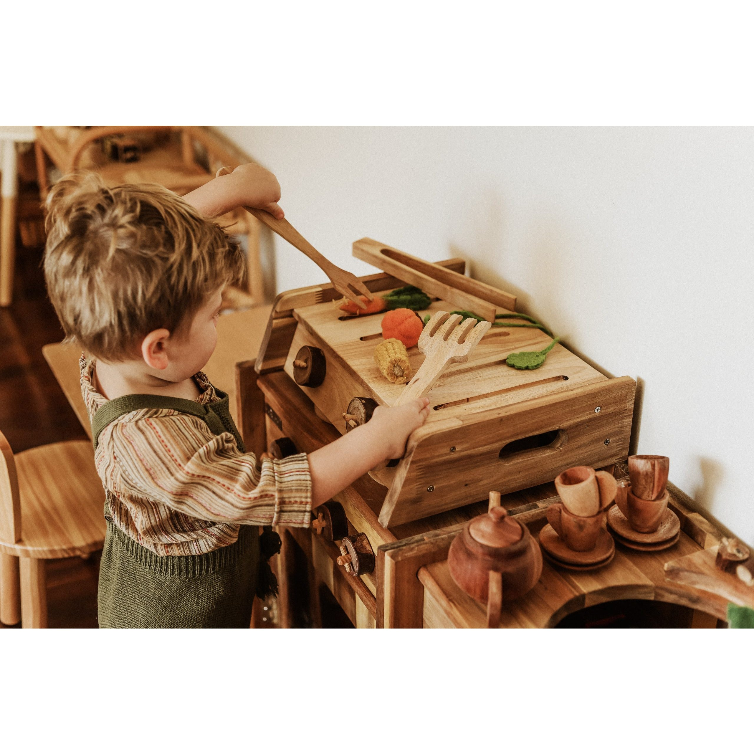 QToys Wooden BBQ Set Toy-MercadoGames.com