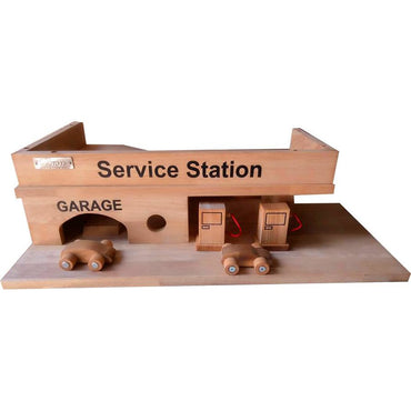 QToys Solid Wooden Service Station Toy-MercadoGames.com