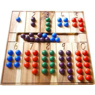QToys Natural Counting Board Wooden Toy-MercadoGames.com