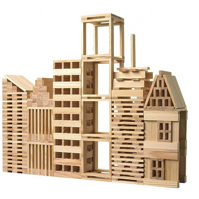 QToys Natural Planks Wooden Puzzle Toy-MercadoGames.com