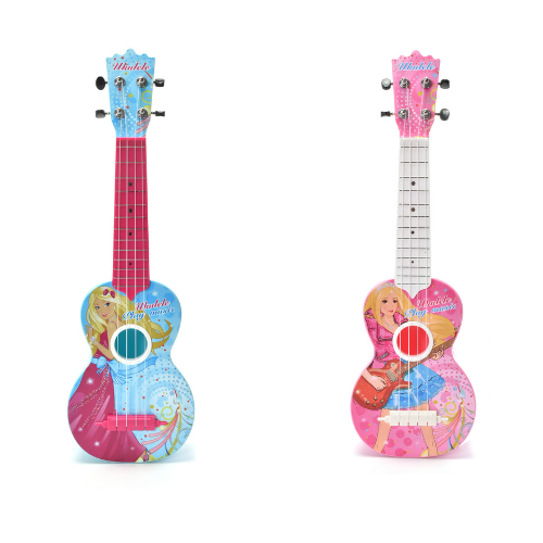Ukulele Guitar With Adjustable Knob Strings, Kids; Lightweight; 21