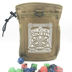 Dice Giveth and Taketh Deluxe Dice Bag-MercadoGames.com