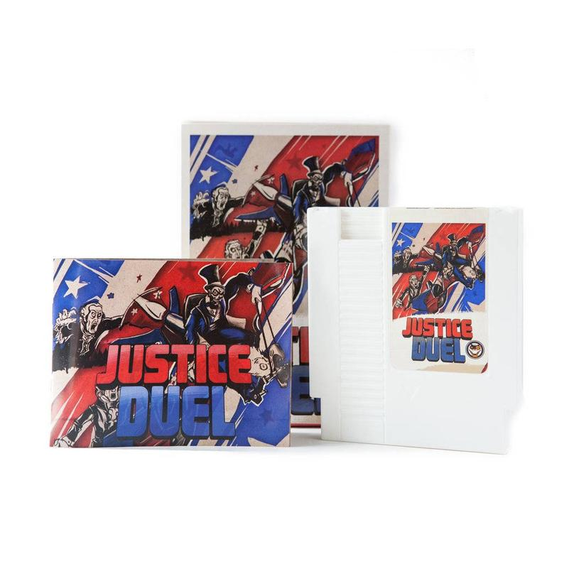 Justice Duel - Official Mega Cat Studios Beat'em up Video Game Cart - Nintendo NES-MercadoGames.com
