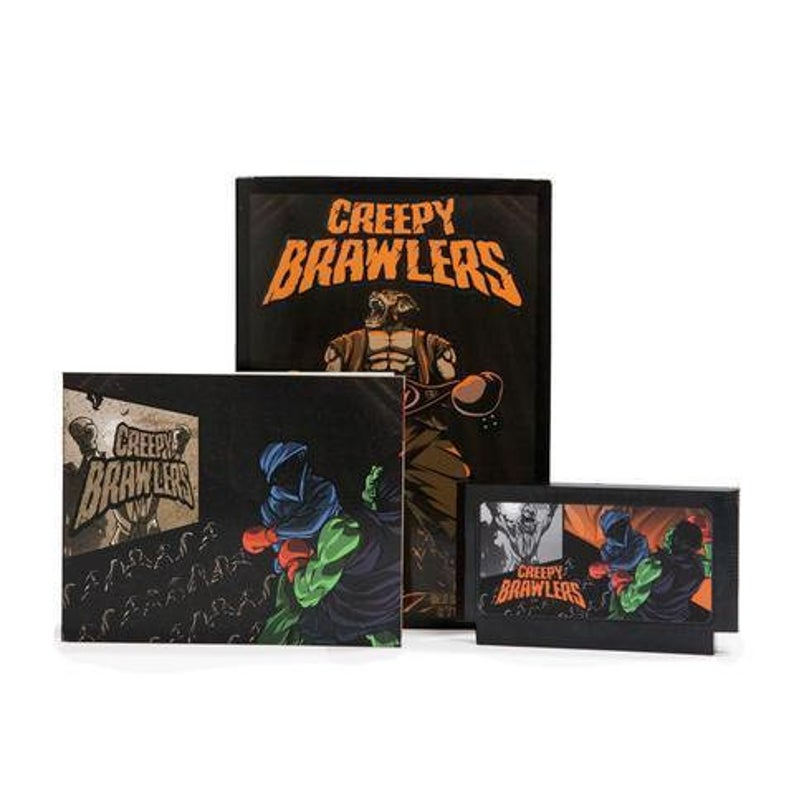 Creepy Brawlers - Official Mega Cat Studios Beat'em up Video Game Cart for the Nintendo Famicom System-MercadoGames.com