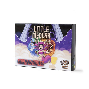 Little Medusa - Official Mega Cat Studios SNES Strategy Puzzle Video Game Cart for the Super Nintendo Entertainment System-MercadoGames.com