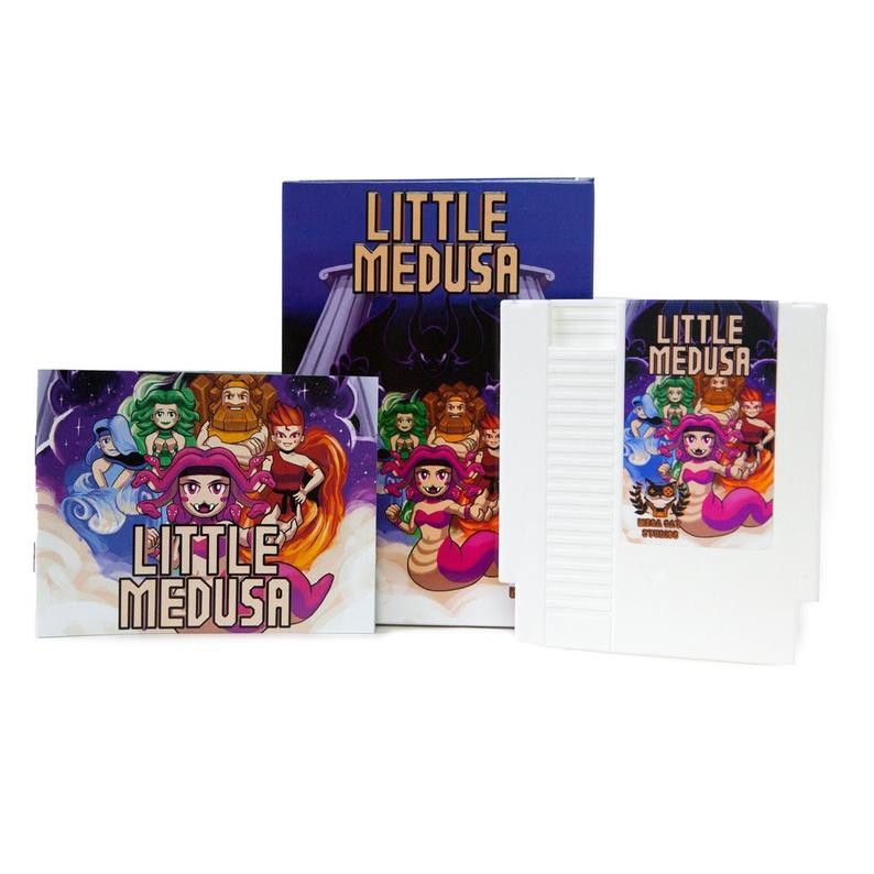 Little Medusa - Official Mega Cat Studios Action Puzzle Video Game Cart - Nintendo NES-MercadoGames.com