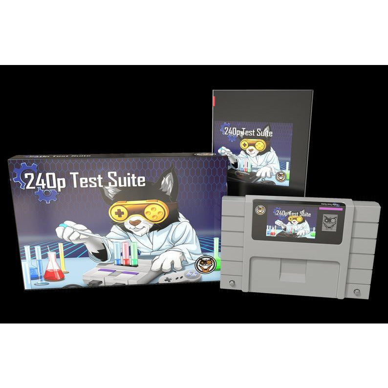240P Test Suite - Official Mega Cat Studios SNES TV Test Cart for the Super Nintendo Entertainment System-MercadoGames.com