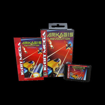 Arkagis - Official Mega Cat Studios Cart Game - Sega Genesis Version - Classic 16 bit Arcade-style Top-down Shooter-MercadoGames.com