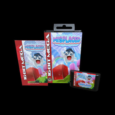 Misplaced - Official Mega Cat Studios Cart Game - Sega Genesis Version - Classic 16 bit Amphibious Action Puzzle Quest-MercadoGames.com