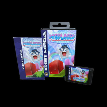 Misplaced - Official Mega Cat Studios Cart Game for the Sega Mega Drive Version - Classic 16 bit Amphibious Action Puzzle Quest-MercadoGames.com