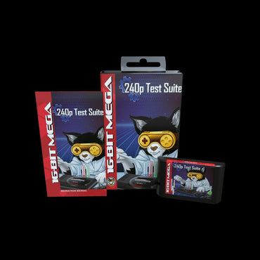 240p Test Suite - Official Mega Cat Studios TV Test Cart - Sega Genesis Version-MercadoGames.com