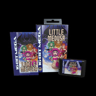 Little Medusa - Official Mega Cat Studios Strategy Puzzle Video Game Cart For The Sega Mega Drive PAL System-MercadoGames.com