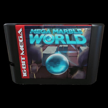Mega Marble World - Official Mega Cat Studios Cart Game - Sega Genesis Version - Classic 16 bit Challenging puzzle arcade adventure!-MercadoGames.com