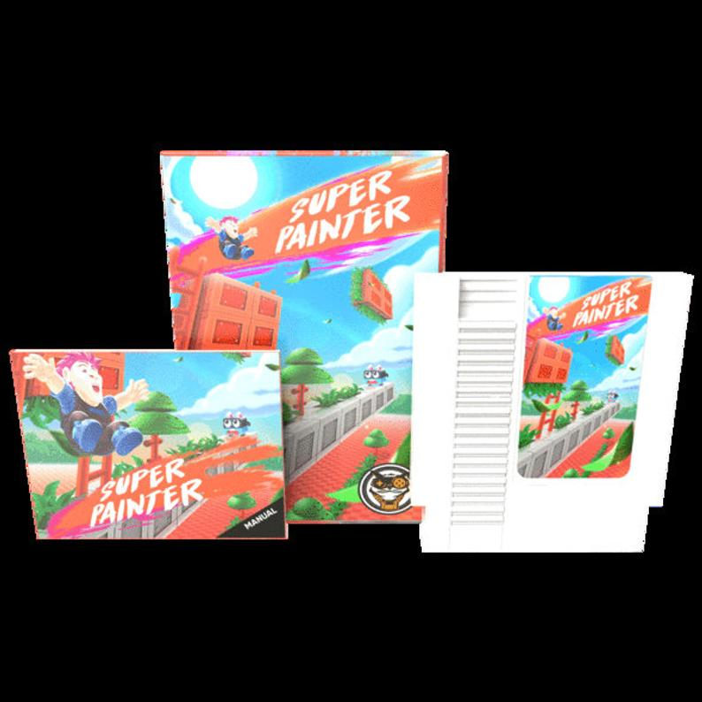Super Painter - Official Mega Cat Studios Action Puzzle Platformer Video Game Cart - Nintendo NES-MercadoGames.com