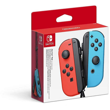 Nintendo Official Switch Joy-Con Pair - Neon Red/Neon Blue-MercadoGames.com