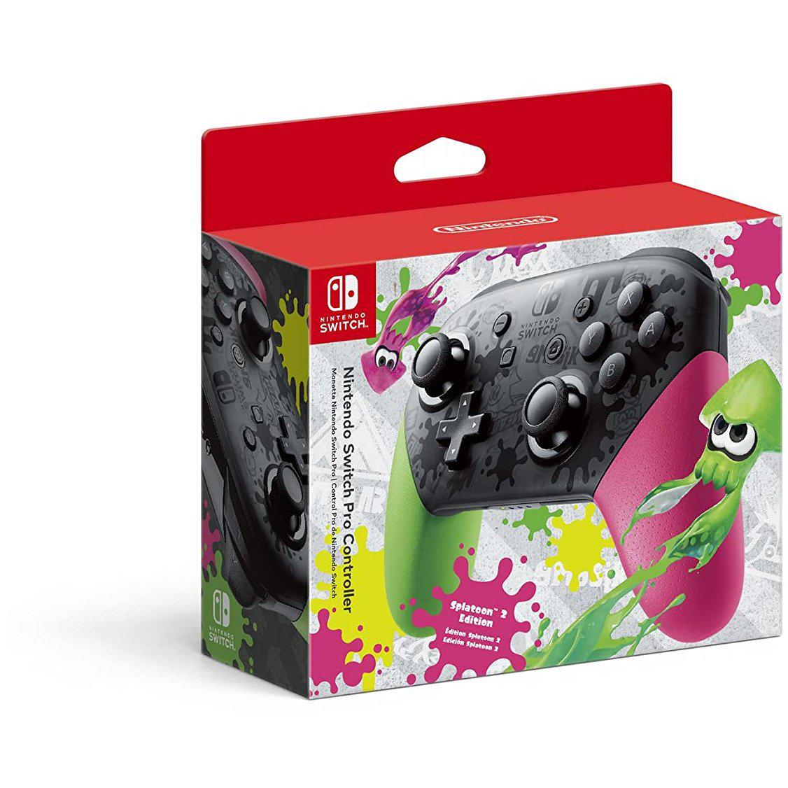 Nintendo Official Switch Pro Controller - Splatoon 2 Edition-MercadoGames.com