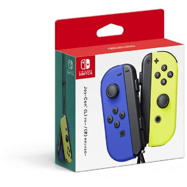 Nintendo Official Switch Joy-Con Pair - Neon Blue/Neon Yellow-MercadoGames.com