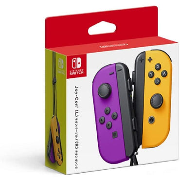 Nintendo Official Switch Joy-Con Pair - Neon Purple/Neon Orange-MercadoGames.com
