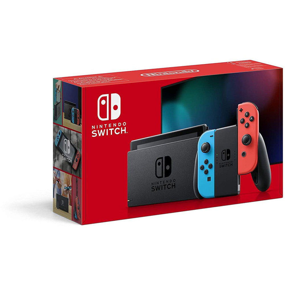 Nintendo Switch Console - Neon Red/Neon Blue-MercadoGames.com