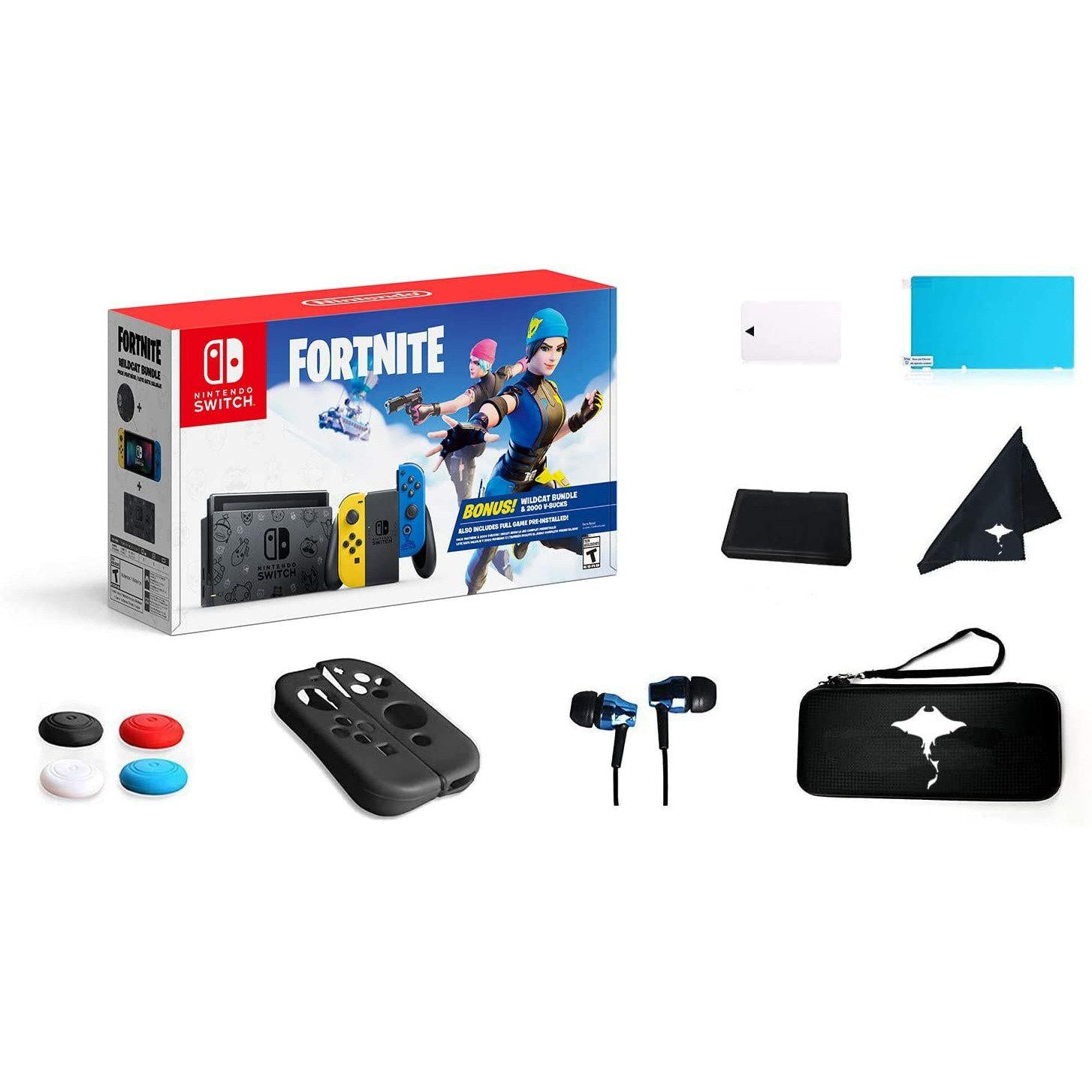 Nintendo Switch Console - Fortnite Limited Edition (Split bundle - No Codes)-MercadoGames.com