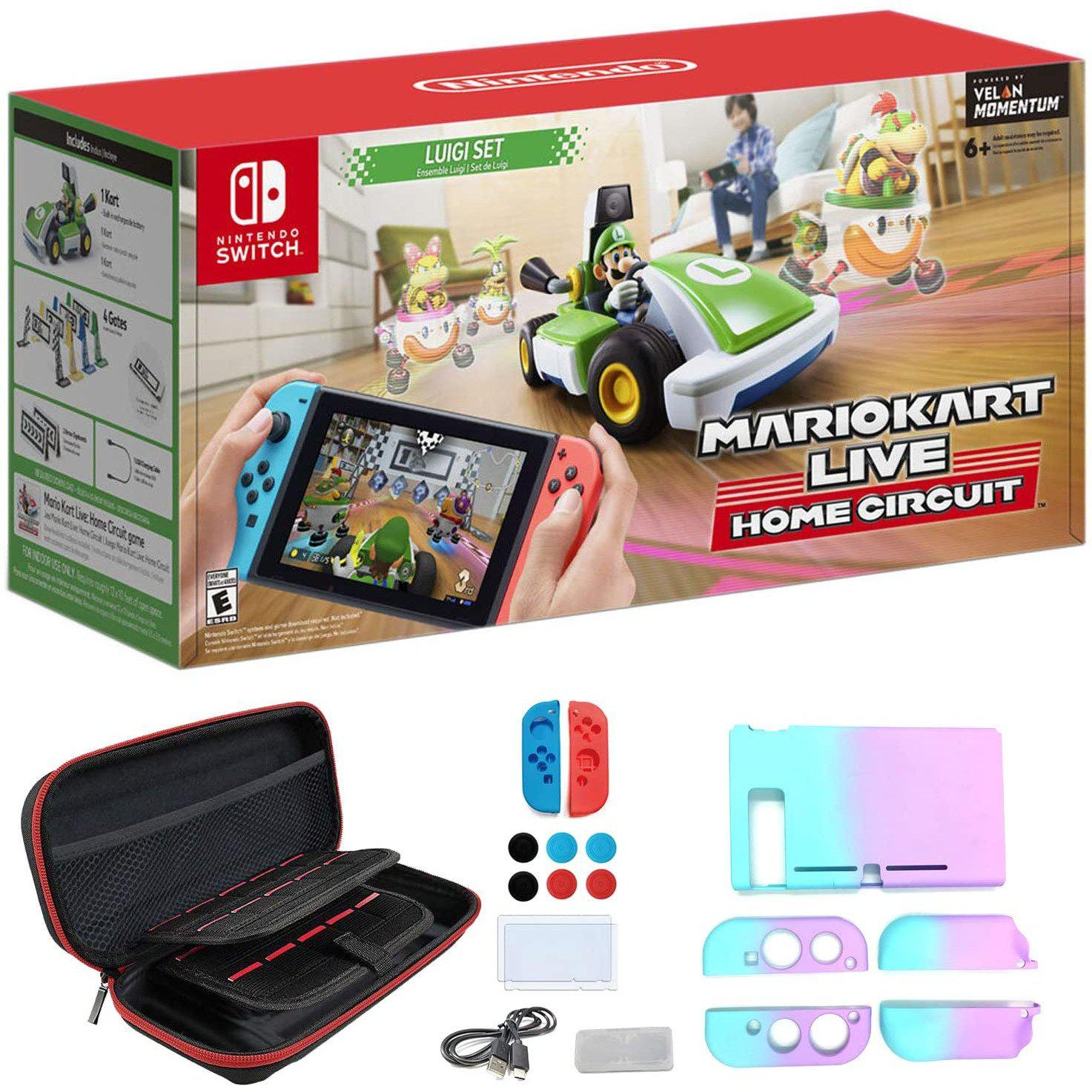 Mario Kart Live: Home Circuit - Luigi Set (Switch) (JP)-MercadoGames.com