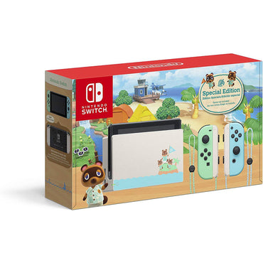 Nintendo Switch Console + Animal Crossing New Horizons Edition-MercadoGames.com