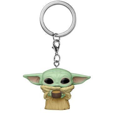 Funko Pop! Keychain: Star Wars - The Mandalorian- Child w/Cup