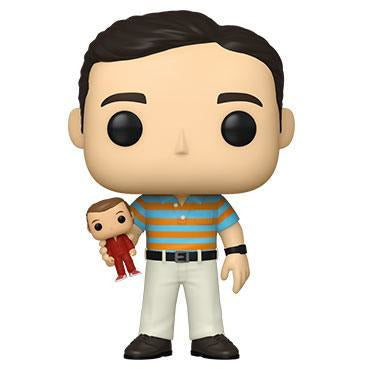 Funko Pop! Movies: 40 Y.O. Virgin - Andy holding Oscar With Chance Of