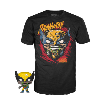 Funko Pocket Pop! & Tee: Marvel Zombies - Wolverine-MercadoGames.com