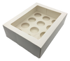 12 Inners Clear Window Cup Cake Box With Inserts