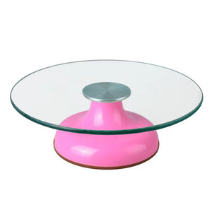 Glass Turning Table Cake Stand 12 inches