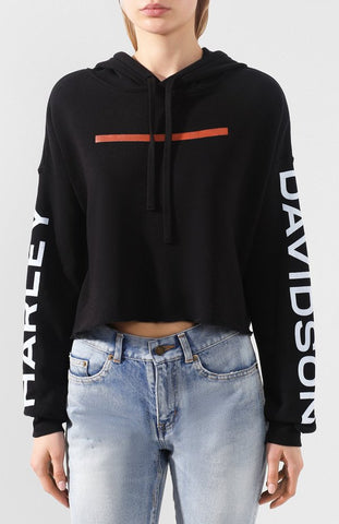 HODDIE-KNIT BLACK HYPHEN CROPPED H-D®