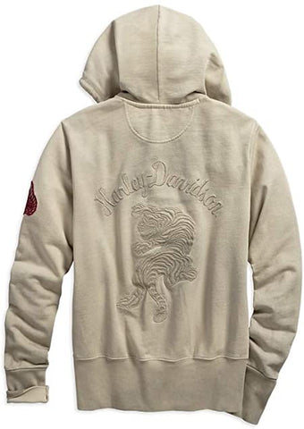 Harley-Davidson® Embroidered Tiger Hoodie Women's Sweatshirt