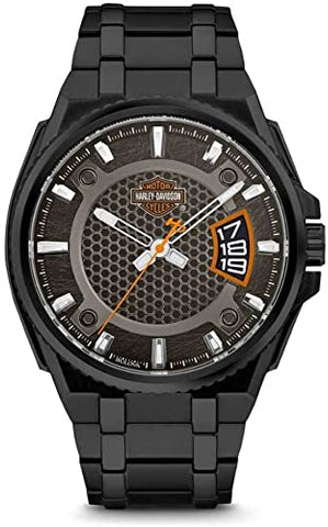 HARLEY-DAVIDSON BAR & SHIELD DIMENSIONAL STAINLESS STEEL WATCH