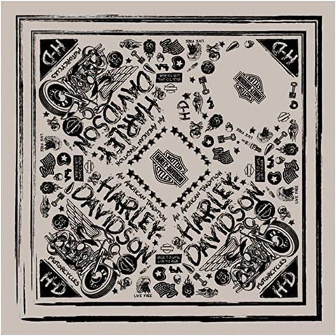 Black Magic Bandana – Tan & Black