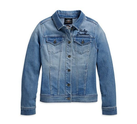 WINGED LOGO DENIM JACKET
