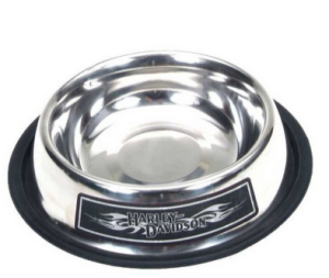 Harley-Davidson® HD Name with Tribal Flames Stainless Steel 32 oz. Silver Pet Bowl